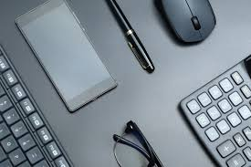 Black Business Background Black Office Business Equipment On Black Background Photo Free