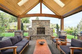 covered patio craftsman fire pit outdoor