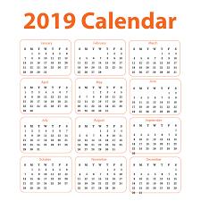 Calendar Free Downloads 2019 Calendar Free Vector Corporate Design Download