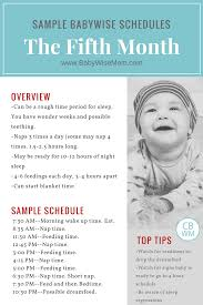 Babywise Sample Schedules The Fifth Month Babywise Mom