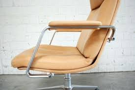 reupholster office chairs. Reupholster Leather Office Chair Mid Century Cognac Sand By . Chairs