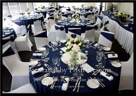 navy blue and silver wedding decor