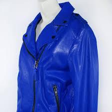 color royal blue metal hardware zip closure belted size large
