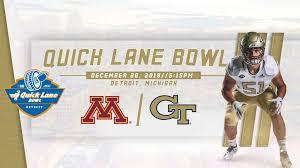 2018 Bowl Game Georgia Tech Yellow Jackets