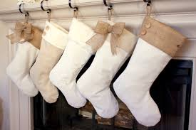 stockings with burlap accents