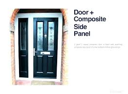 door with side panel front glass replacement stained panels