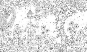 大人のぬりえ細かいフラワーお花ガーデン庭の無料 テンプレート
