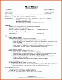 Objective Teacher Resume Objective Teaching Resume Moa Format For Lawteched Objectives 6