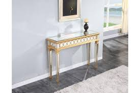 gold console table. Audrey Console Table In Gold Finish
