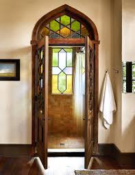 awesome stained glass shower door brilliant decoration wood unusual ideas design lamp pattern bathroom with dark