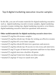 top8digitalmarketingexecutiveresumesamples 150407034531 conversion gate01 thumbnail 4 jpg cb 1428396377