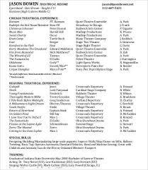 Theatre Resume Impressive 28Theatre Resume Templates PDF DOC Free Premium Templates
