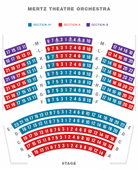 Veritable Sarasota Opera House Seating Chart Mertz Theatre