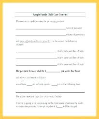 Daycare Contract Template Nanny Family Contract Child Care Employment Template Loan
