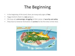 "the theme fear in ""lord of the flies"" zak dunn a ppt  the beginning in the beginning of the novel there are many early signs of fear"