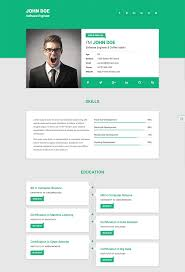 Free Resume Cv Web Templates 24 Best HTML Resume Templates for Awesome Personal Sites 1