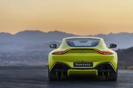 2018 Aston Martin Vantage: Rear View, With Unbroken Light Bar And Diffusers  On Display