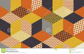60s Graphic Design Style Geometric Seamless Pattern Vector Illustration In Retro 60s