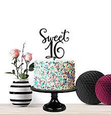 Amazoncom Sweet 16 Birthday Cake Topper Sweet Sixteen