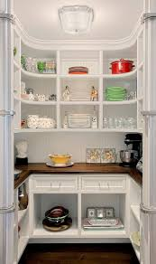 Elegant Curved Shelving For Your Walk In Pantry