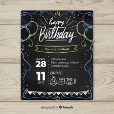 Downloadable Birthday Invitations Birthday Invitation Vectors Photos And Psd Files Free Download