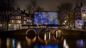 What Inspired Reflecting Road Lights To Be Invented Van Goghs Starry Night Reimagined As Amsterdam Light