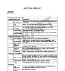 Moving Checklist Template Create Download A Free Moving Checklist