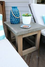 concrete wood outdoor side table tables