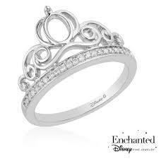 enchanted disney fine jewelry cinderella s carriage diamond tiara ring 1 10ctw size 7