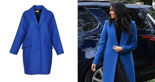 Blue Coat Meghan Markles Blue Coat Buy Her Smythe Topper Or A Cheaper