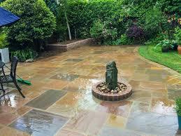 robert hughes garden landscaping construction indian sandstone paving example