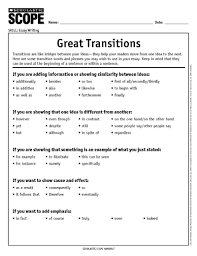 Transition Essay Examples How To Choose The Perfect Transition Word Or Phrase