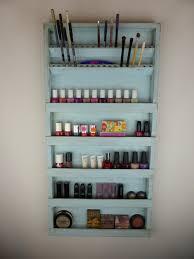 Nail polish rack display Makeup organizer by CraftersCalendar