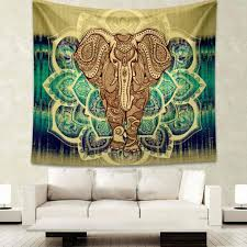 tapestry wall hanging with elephant print