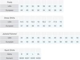 68 Proper Giorgio Armani Size Chart