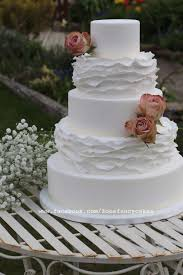 Simple Elegant Frills Wedding Cake Cake By Zoes Fancy Cakes