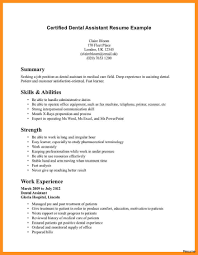 resumes for dental assistant dental assistant resume inside free throughout template 42a