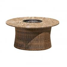 42 round stone top fire pit by northcape international