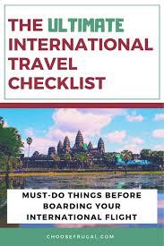 International Travel Checklist Pdf Yolar Cinetonic Co Excel Packing