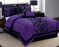 modern purple bedding sets queen bed