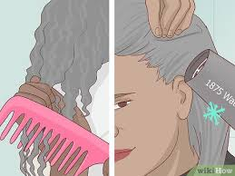 how to dye naturally black hair gray