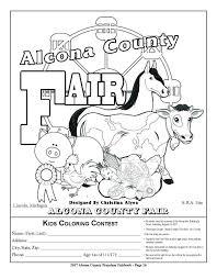Kids Coloring Contest » Alcona County Fair