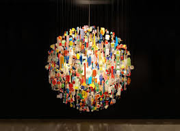 atelier abigail ahern s porcelain chandelier each individual porcelain tile is hand crafted and comes at a cost of 14 000