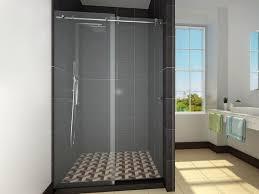 image of frameless sliding glass shower doors handles