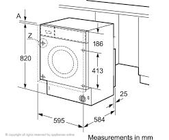 Standard Washing Machine Width Washer Bosch Maxx Wab28162gb 6kg Washing Machine 58cm Width 10275