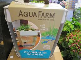 Self Cleaning Fish Tank Garden Hydroponic Gardening With Fish Andrew De Melos Aquaponic Blue
