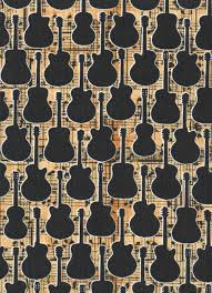 GUITAR Sheet Music Quilt Fabric ~ Black Guitars at #fabric4you ... & GUITAR Sheet Music Quilt Fabric ~ Black Guitars at #fabric4you  #musicpatterns MUSIC PATTERNS + Adamdwight.com