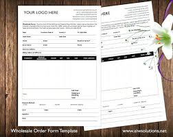 Order Form And Price Sheet On One Page Wholesale Template Ms Word ...