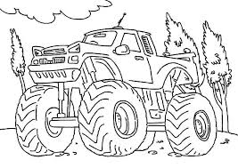 Monster Jam Truck Coloring Pages Printable Grave Digger For Toddlers