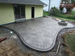 rare garden concrete patios designs new stamped patio of outdoor cost to install stamped concrete patio